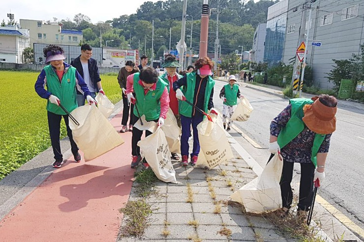 부산 강서구 가락동협의회와 부녀회와 문고, 추석맞이 환경정화활동