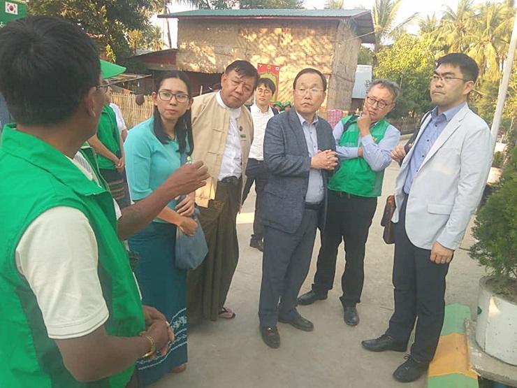 미얀마 지구촌새마을운동 현장점검