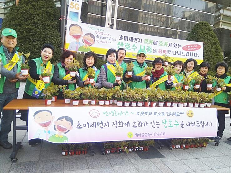 서울 강남구지회, 화분 무료 나눔