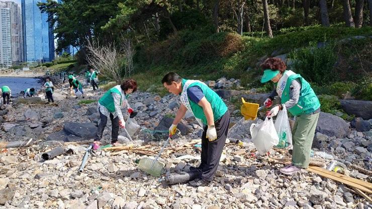 부산 해운대구새마을회, 환경정비활동 실시