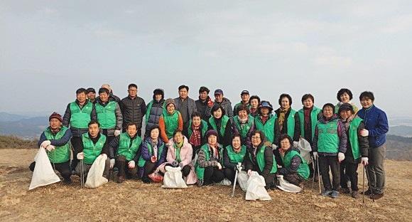 충남 부여군 임천면협의회와 부녀회, 환경정화활동