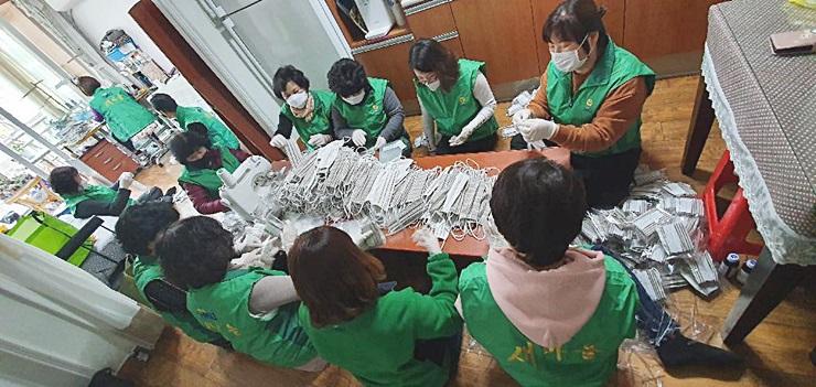 인천 연수구새마을회, 마스크 제작