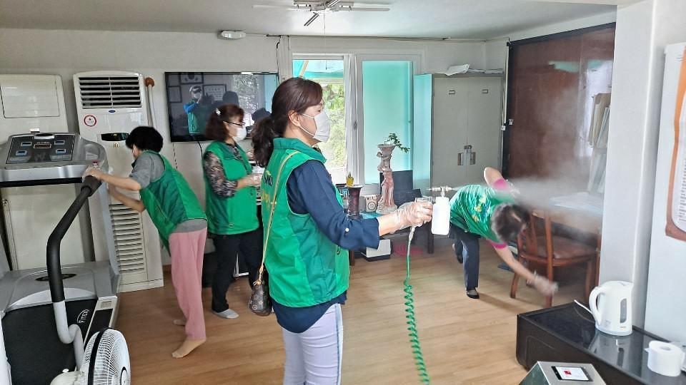 대전 동구 자양동부녀회와 문고, 코로나19 방역활동
