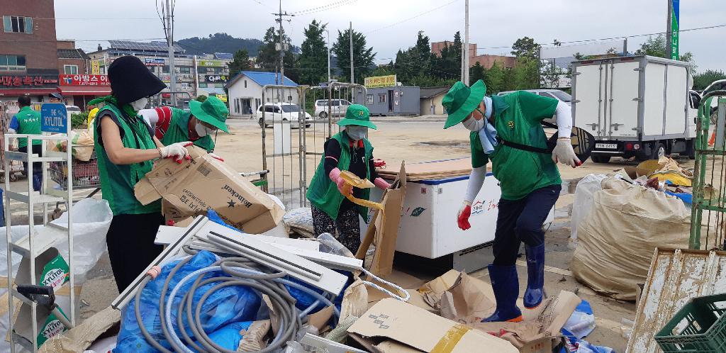 울산·경기·충남, 집중호우 피해 복구활동