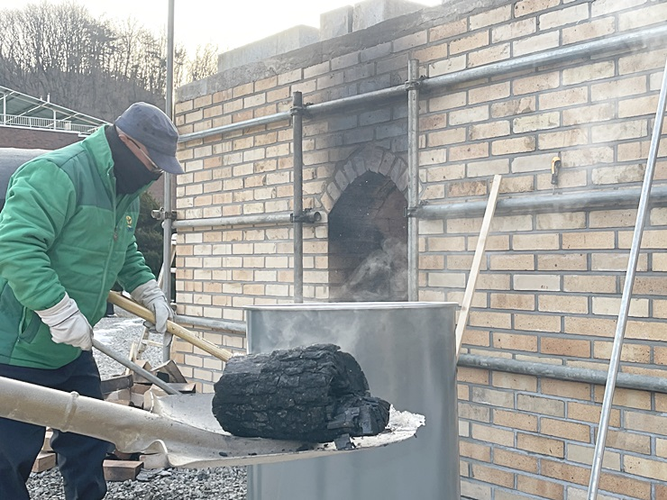 연수원 숯가마, 첫 백탄 생산