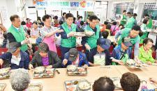 광주 북구 두암2동협의회와 부녀회, 어르신 삼계탕 나눔 활동
