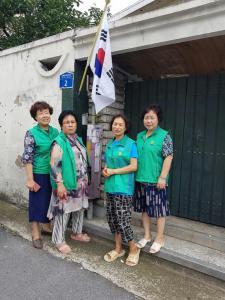 광주 남구 월산4동부녀회, 태극기 달기 거리캠페인 실시