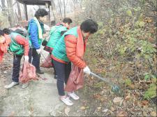 서울 동대문구지회, 자연정화활동 실시 및 쓰레기 수거