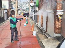 충북 청주시 사창동협의회, 버스 승강장과 경로당 집중 방역