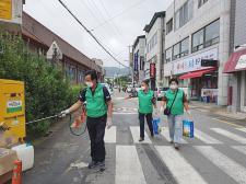 경남 거창군새마을회, 코로나19 감염 차단을 위한 방역 실시