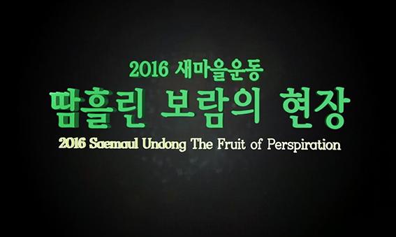 2016 전국새마을지도자대회 성과동영상+한자녀 더 갖기